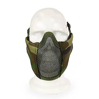 Camouflage Breathable Half Half Face Mask Steel Net Mesh Mask for Tactical
