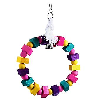Bird Parrot Toy Wooden Cotton Rope Snap