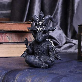 Magic Black Cat Garden Home Decoration Resin Crafts Animal With Horns And Wings Decoration Monster