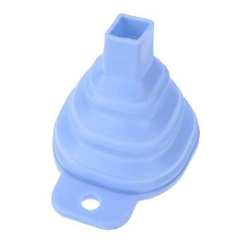 Mini collapsible eco friendly silicone food safe funnel(Blue)