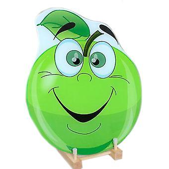 קרש חיתוך זכוכית מחוסמת חיתוך בלוק לימון ירוק משטח חלק