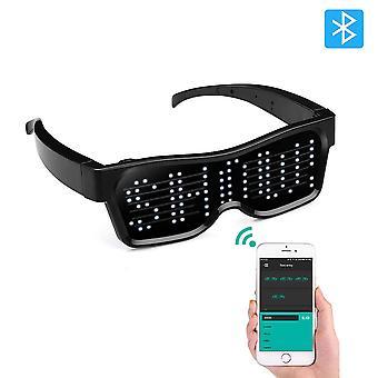 Led Bluetooth Visiiri Lasit Neon Party Valoisa El Wire Led Light Up Visiiri Silmälasit Dj Party