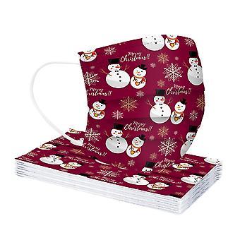 عيد الميلاد الكبار قناع الوجه المتاح قناع الصناعية حلقة الأذن 3ply
