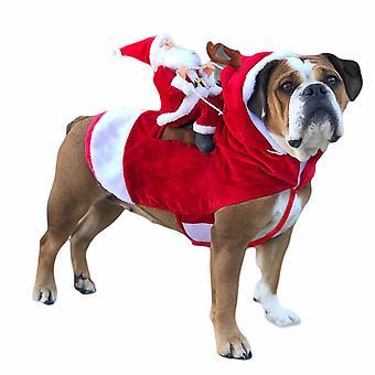 Homemiyn Cute Pet Christmas Clothes,pet Christmas Santa Cloak For Cat Dog,adjustable Velcro Cloak
