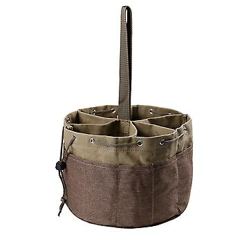 Swotgdoby Canvas Cylinder Drawstring Garden Tool Bag, For Portable Tool Storage