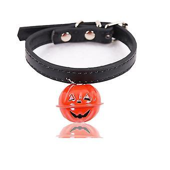 Halloween Pet Collar Fashion Festival Câini Pisici guler cu clopot de dovleac mici