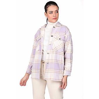 4-lommers Lilac Plaid jakke