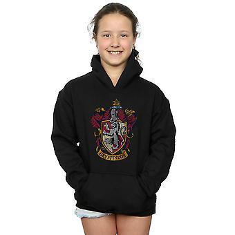 Harry Potter Mädchen Gryffindor Distressed Crest Hoodie