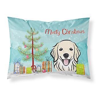 شجرة عيد الميلاد والنسيج الذهبي المسترد وسادة القياسية