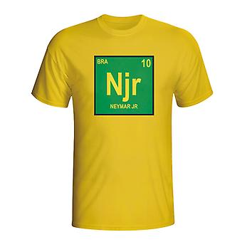 Neymar Brazil Periodic Table T-shirt (yellow) - Kids