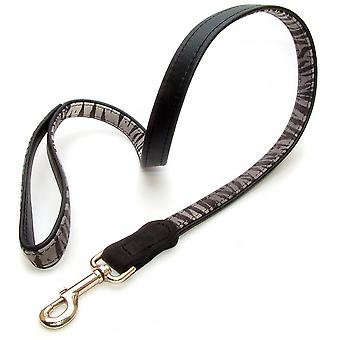 Vital Pet Products Zebra Design Leather Dog Lead