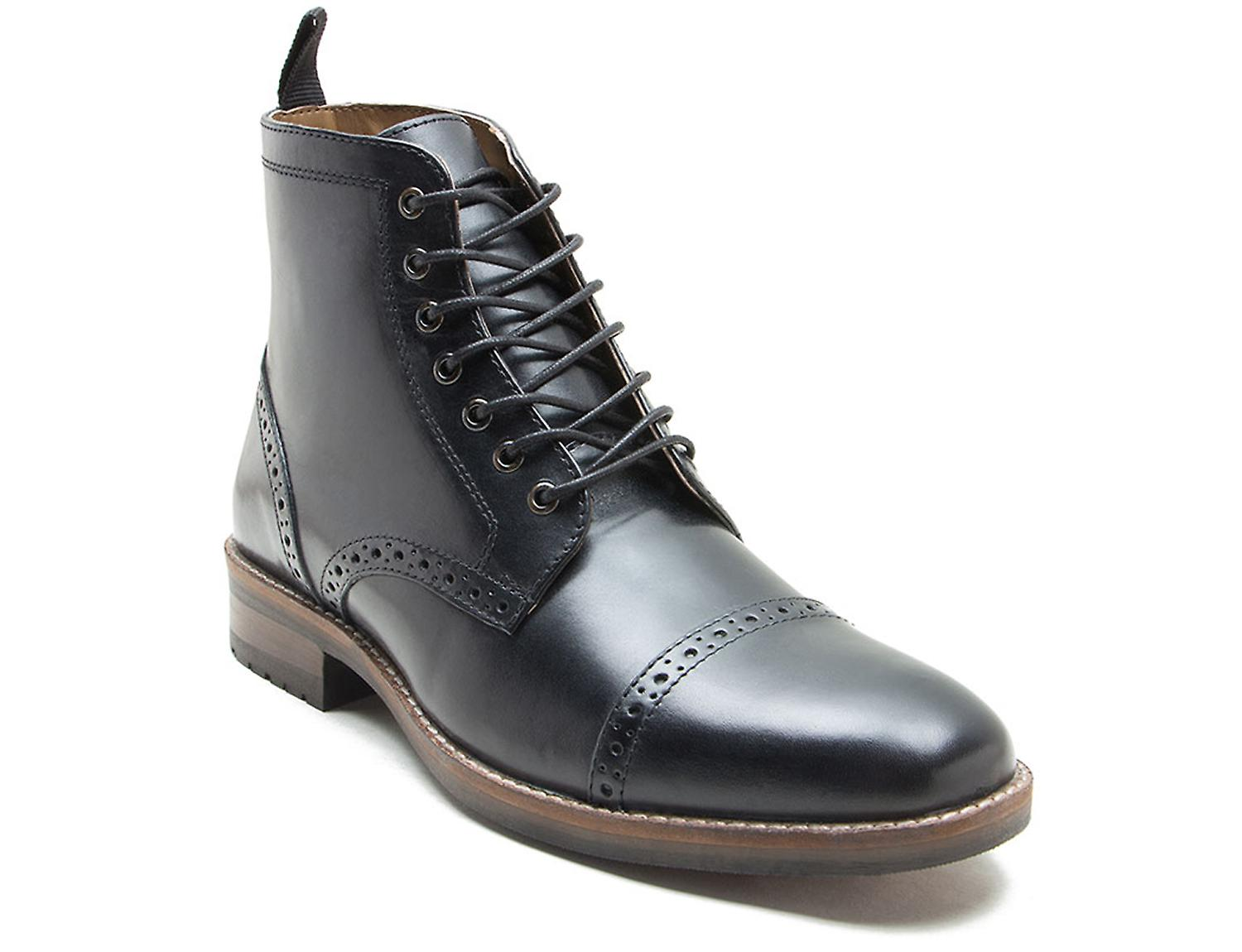 Red Tape Benham Black Leather Formal Boots