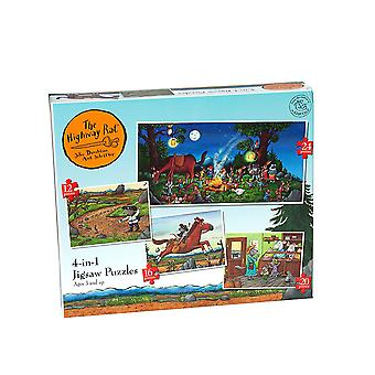 The Highway Rat - 4-in-1 Jigsaw Puzzles