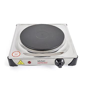 Lloytron KitchenPerfected 1500W Single Hotplate-Stainless Steel (E4103SS)