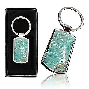 i-Tronixs - Premium Marble Design Chrome Metal Keyring with Free Gift Box (3-Pack) - 0001