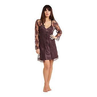 La Notte pizzo floreale vestaglia Loungewear bagno accappatoio Kimono LingaDore 3009KM femminile