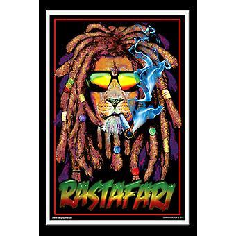 Luz negra Rastafari Poster Print