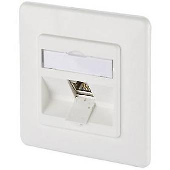 Metz Connect 1309111002-E Network outlet Flush mount Insert with main panel and frame CAT 6A 1 port Pure white