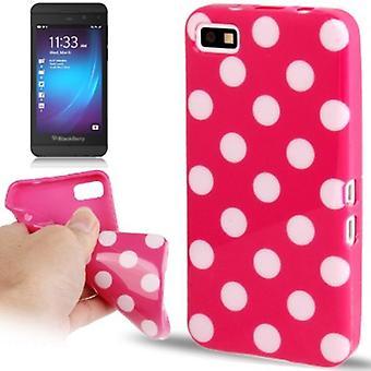 Protection points TPU cas d'affaire pour mobile BlackBerry Z10 pink