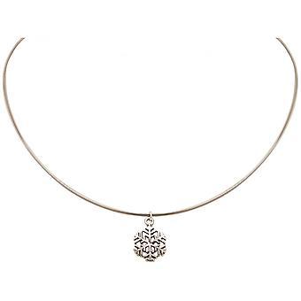 Дамы - ожерелье - Кулоны/Подвески - снежинка - 925 серебра - 1,3 см