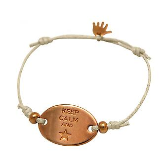 Women - bracelet - engraved - KEEP CALM - rose gold plated - nude