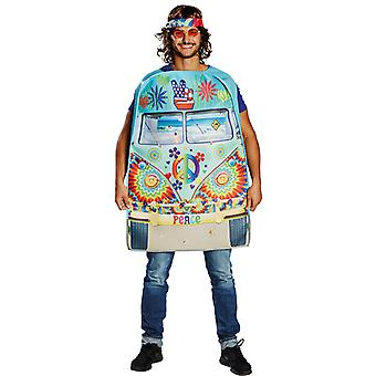 Hippie Bus Herren Kostüm Love Peace Hippy Karneval