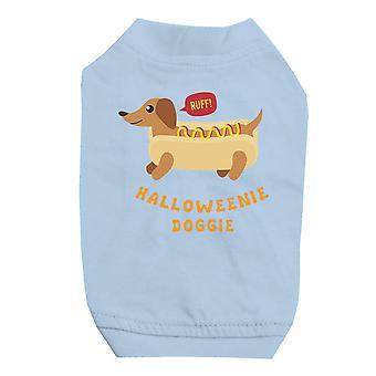الكلب هالوويني السماء الزرقاء قميص الحيوانات الأليفة للكلاب الصغيرة