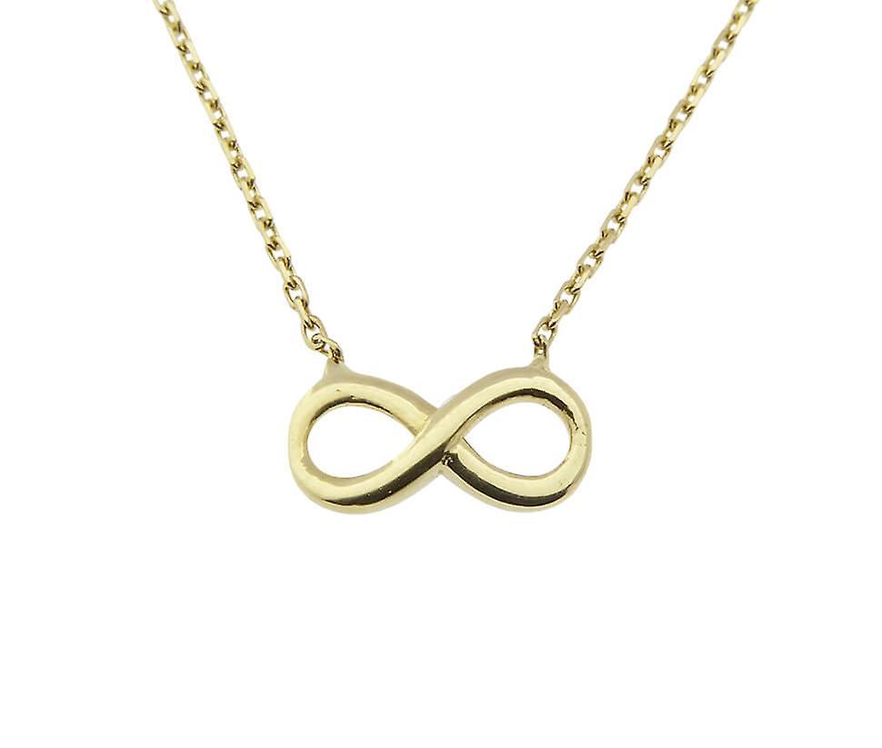 Gouden ketting en infinity hanger