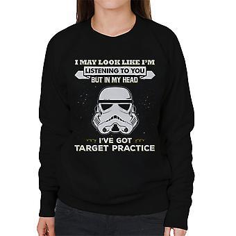 Stormtrooper originale posso sembrare Im ascoltare voi Felpa donna