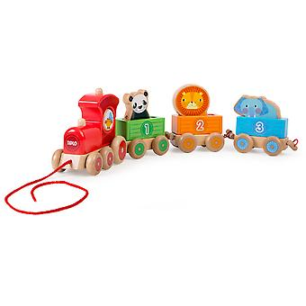 Tidlo Wooden Educational Sensory Stacking Train Early Learning Play Learn