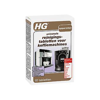 HG Reinigingstabletten voor Koffiemachines 10 Stuks