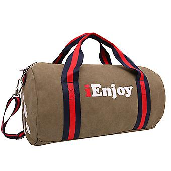 Brown Weekendbags or exercise bag in durable fabric