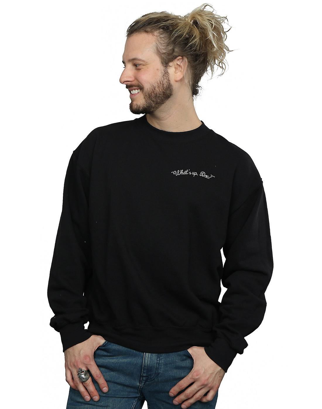 Looney Tunes Men's What's Up Doc Breast Print Sweatshirt
