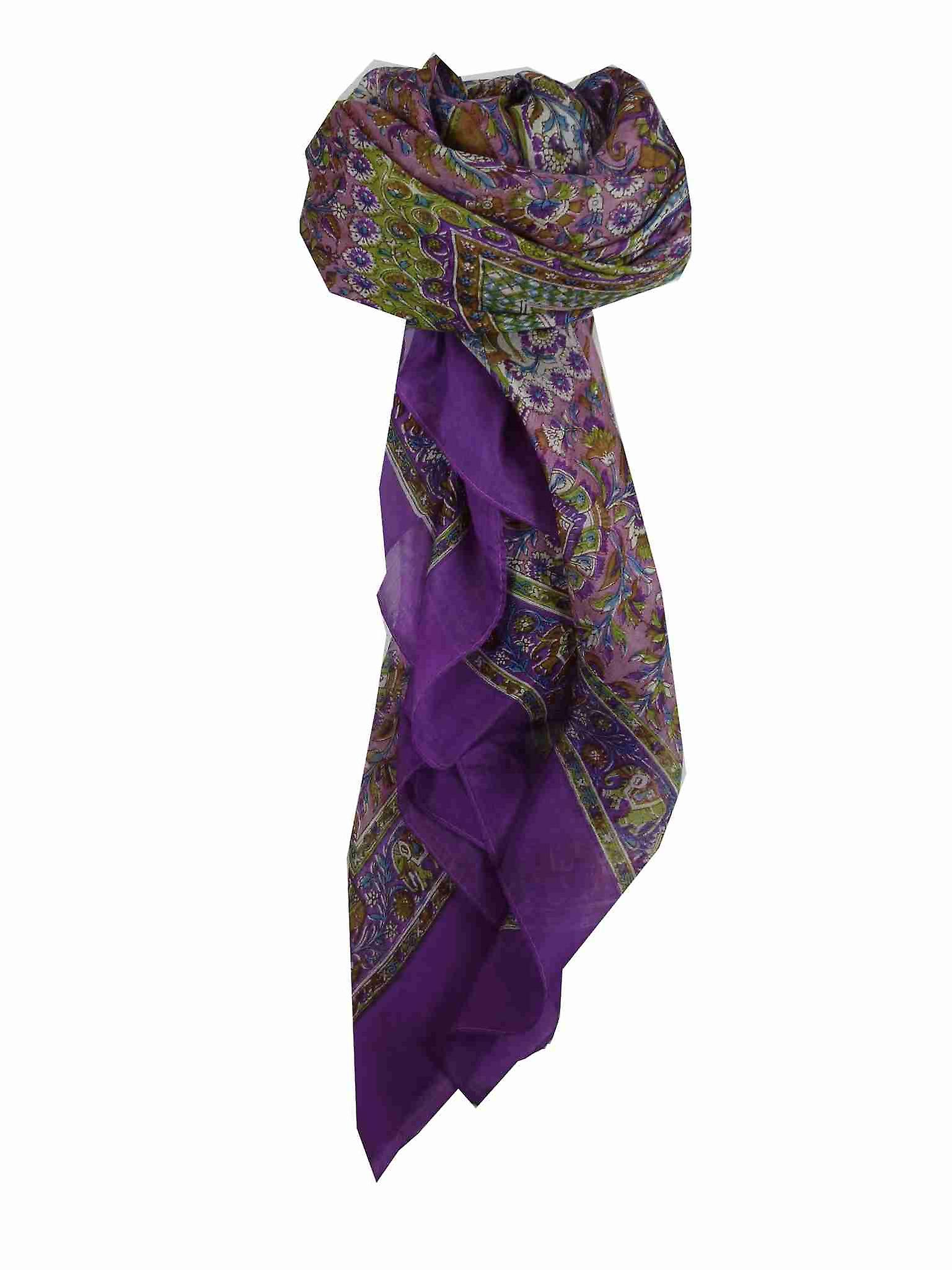 Mulberry Silk Traditional Square Scarf Har Violet by Pashmina & Silk