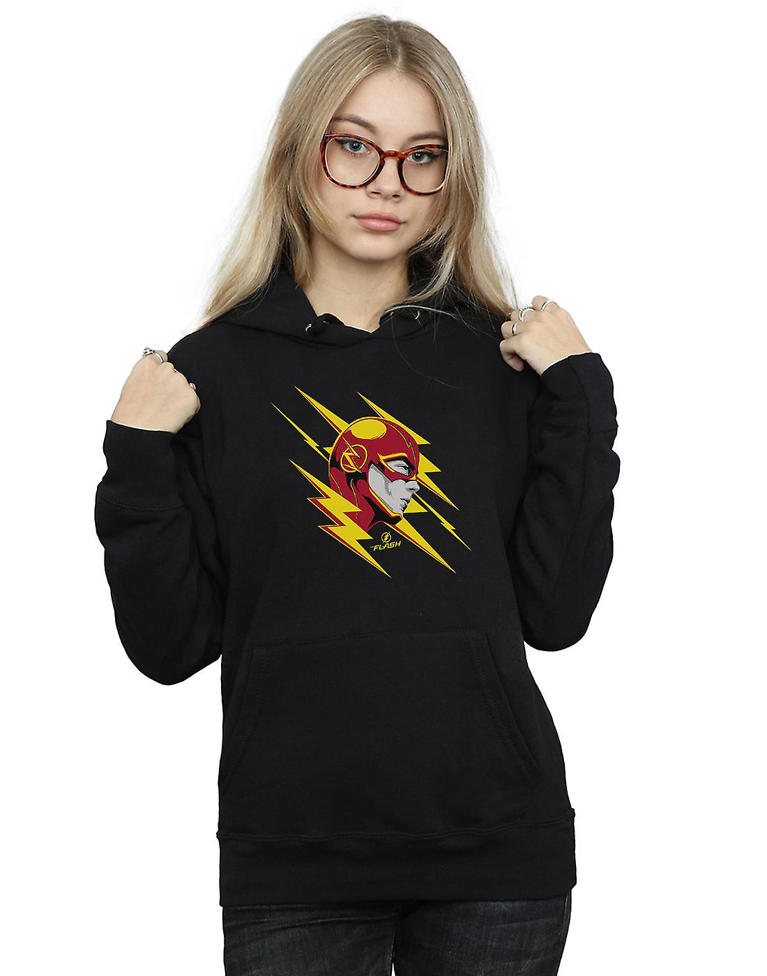 DC Comics Women's The Flash Lightning Portrait Hoodie