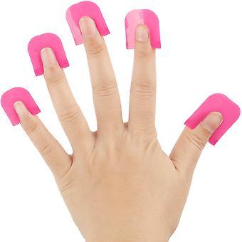 Ayuda de plantilla de esmalte de uñas - Sin desorden Manicura - Pink Plastic Nail Varnish plantilla - Guía de manicura francesa - Por TRIXES