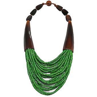 Zen Jewellery Double Horn Beaded Necklace
