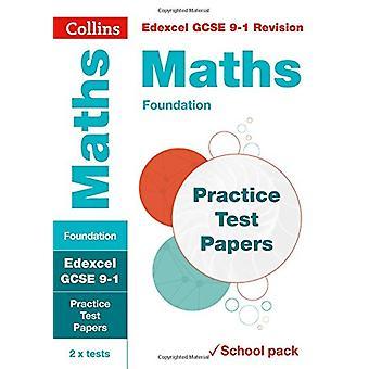 Edexcel GCSE matematik Foundation praksis Test papirer (Collins GCSE 9 - 1