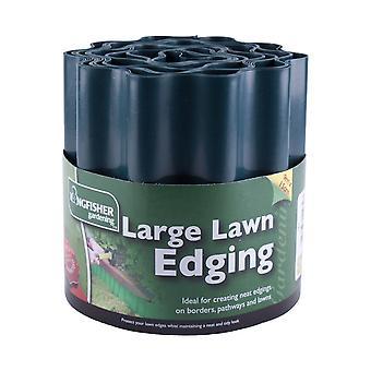 Kingfisher 15 cm x 9 m grön gräsmatta kantning starka flexibla plast gräs gränsen