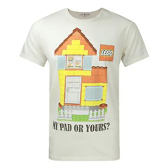 Junk Food Lego Your Pad Or Mine Men's T-Shirt Beige