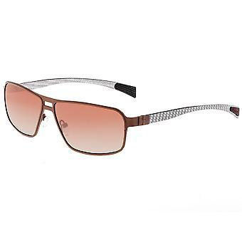 Race méridien titane et fibre de carbone Polarized lunettes de soleil - marron/marron