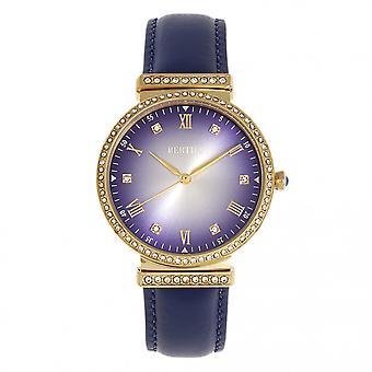 Bertha banda de cuero de Allison reloj - púrpura