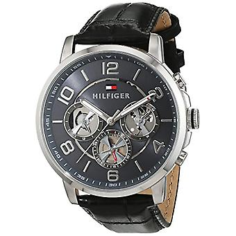 Tommy Hilfiger quartz 1791289 with multi-dial and leather strap.