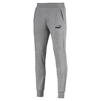 プーマの必需品ロゴ メンズ テーパー ジャージ パンツ ズボン灰色をジョギング