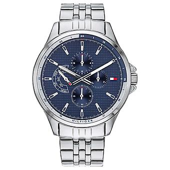 Tommy Hilfiger | Men's Stainless Steel Bracelet | Blue Dial | Chronograph | 1791612 Watch