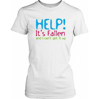 Hjælp! Det er faldet, og jeg kan ikke få den op - sjov vittighed damer T Shirt