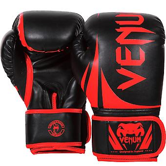 Venum Challenger 2.0 Hook and Loop Training Boxing Gloves - Black/Red