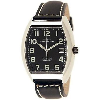 Zeno-watch mens watch tonneau Sapphire automatic 3076-a1