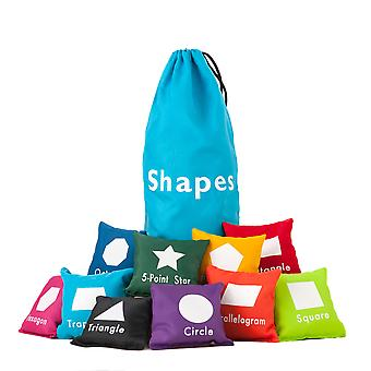 Shapes 10pc Educational Fun Learning and Sensory Bean Bag Set