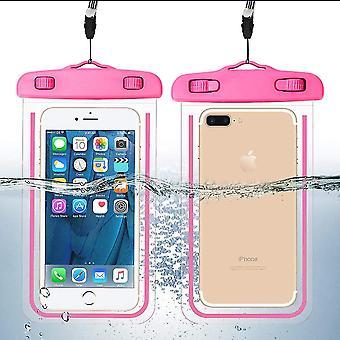 Wasserdichtes Handy-Taschenglühen im dunkelrosa